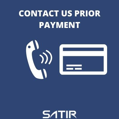 Contact us Prior to Payment