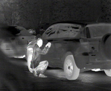Thermal Image of Car break in