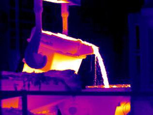 Thermal Image of Petrochemical Processing in Action