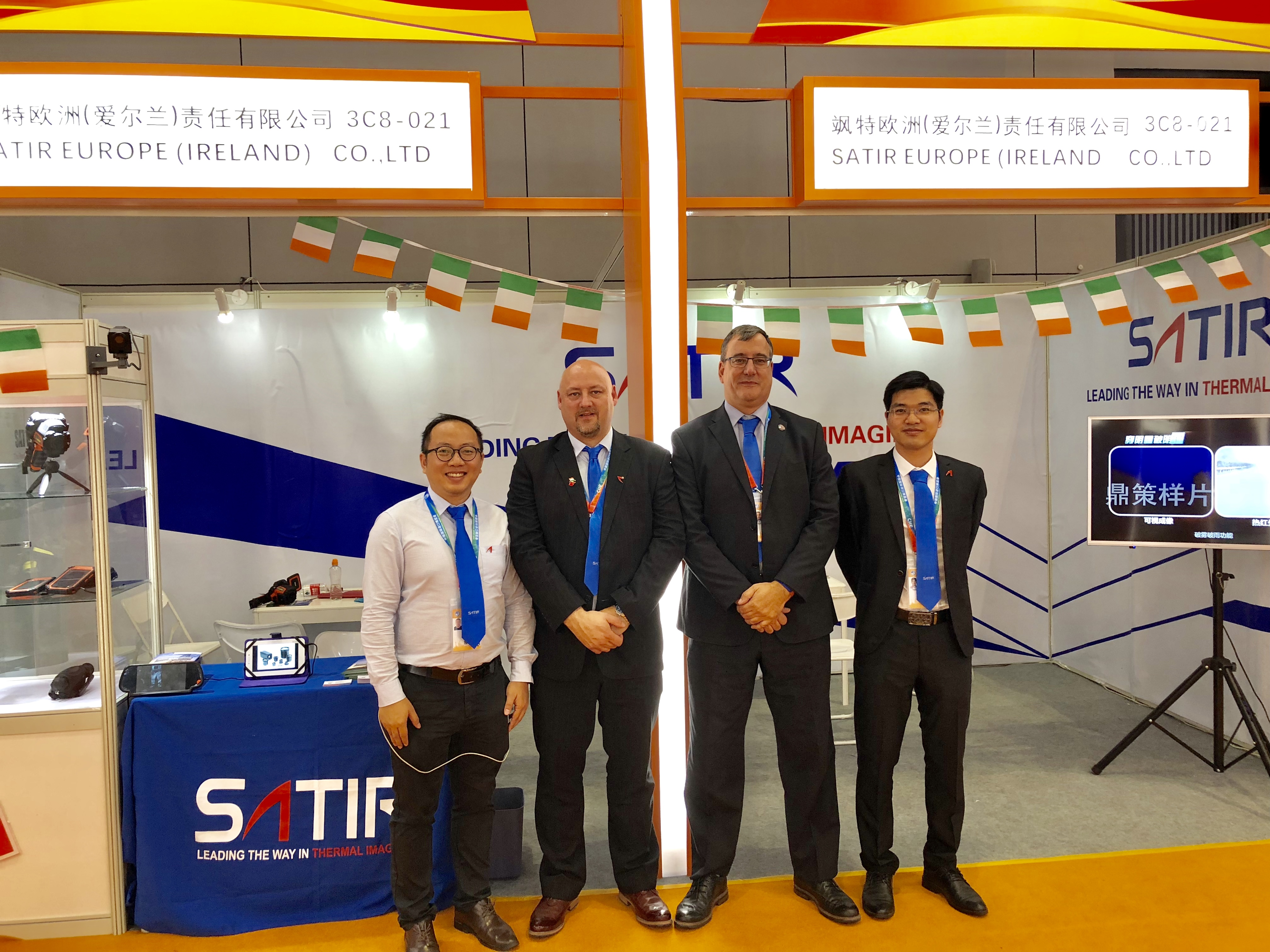SATIR Europe Sales & Technical Team at CIIE