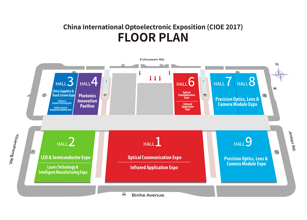 CIOE 2017 Floor Plan