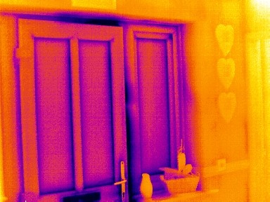 Thermal Image of door showing draught