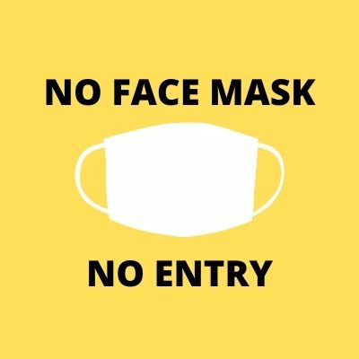 No Face Mask No Entry Sign