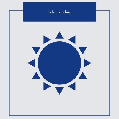Image of a Sun to explain solar loading affects on thermal cameras