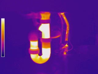 Thermal Image Sink Layout leak detection